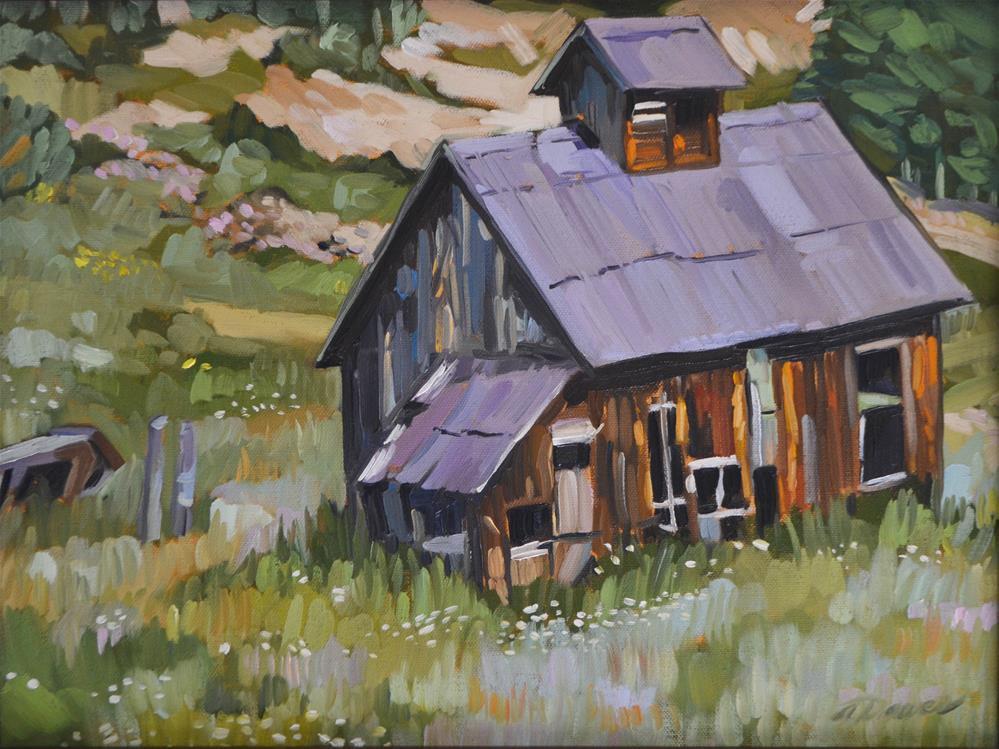 """""""Abandoned"""" original fine art by April Dawes"""