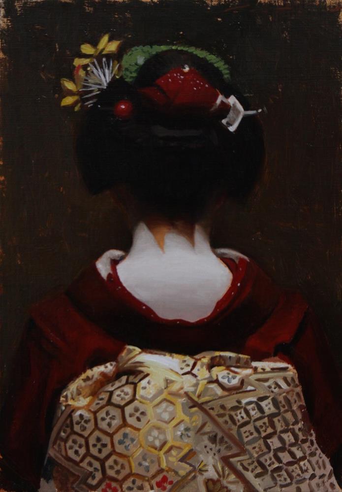 """The Scarlet Fringe (Ichitaka)"" original fine art by Phil Couture"