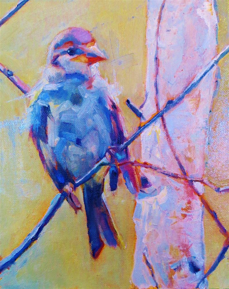 """Winter's Sparrow"" original fine art by Scarlet Owl Studio"