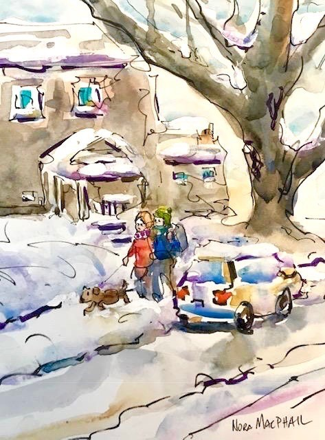 """""""heading out"""" original fine art by Nora MacPhail"""
