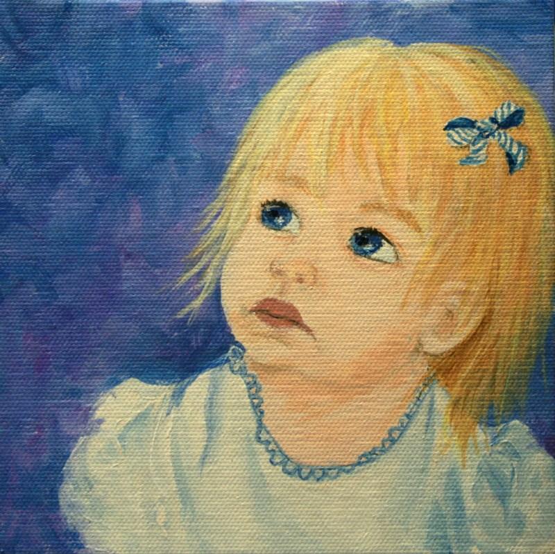 """Blue Eyed Baby"" original fine art by Jean Nelson"