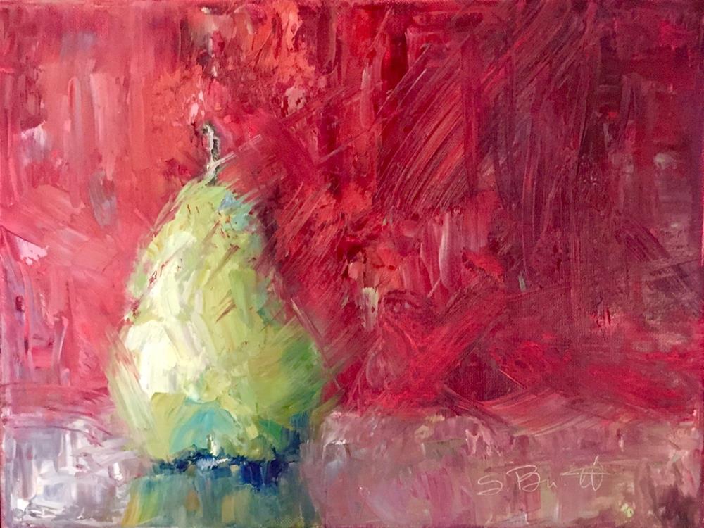 """Tasty Pear"" original fine art by Sherri Burritt"