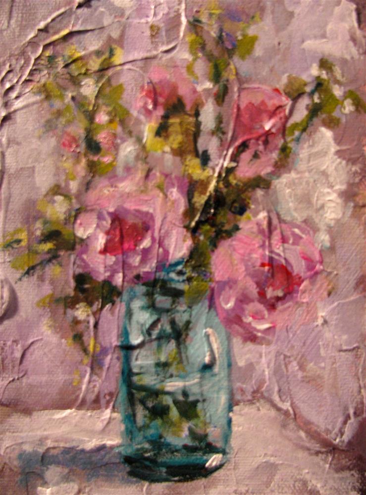 """Peonies"" original fine art by Susan Elizabeth Jones"