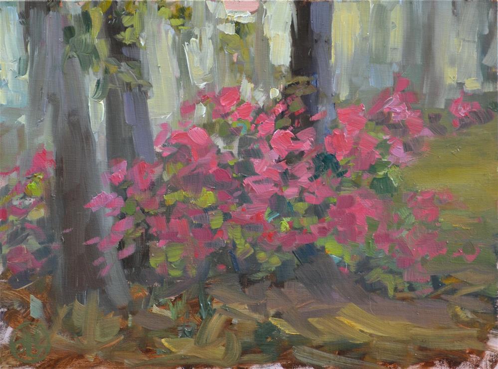 """spring flush"" original fine art by Dottie  T  Leatherwood"