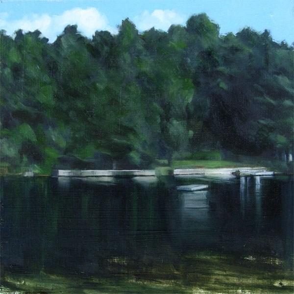 """View Across Lake Monomanoc, New Hampshire (no.74)"" original fine art by Michael William"