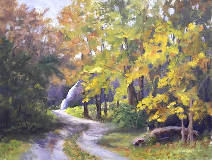 """Path to the Waterfall"" original fine art by Jamie Williams Grossman"