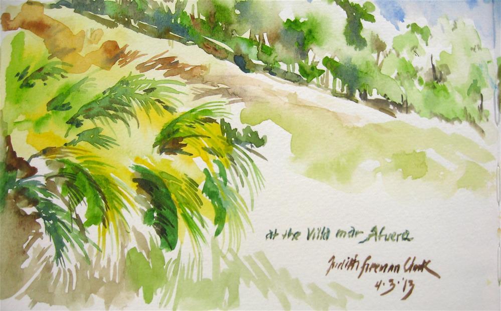 """At the Villa mar Afuera, Isabela, P.R."" original fine art by Judith Freeman Clark"