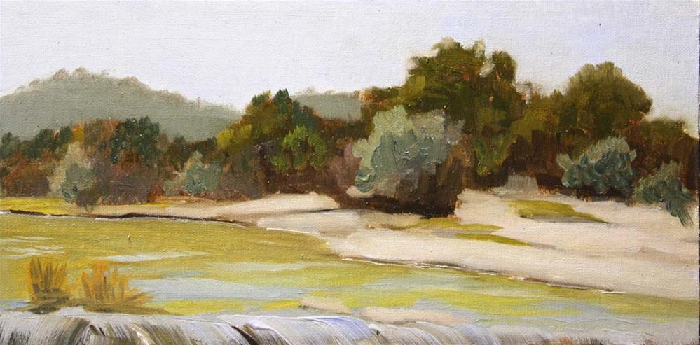 """Upper Bull Creek Falls"" original fine art by Jane Frederick"
