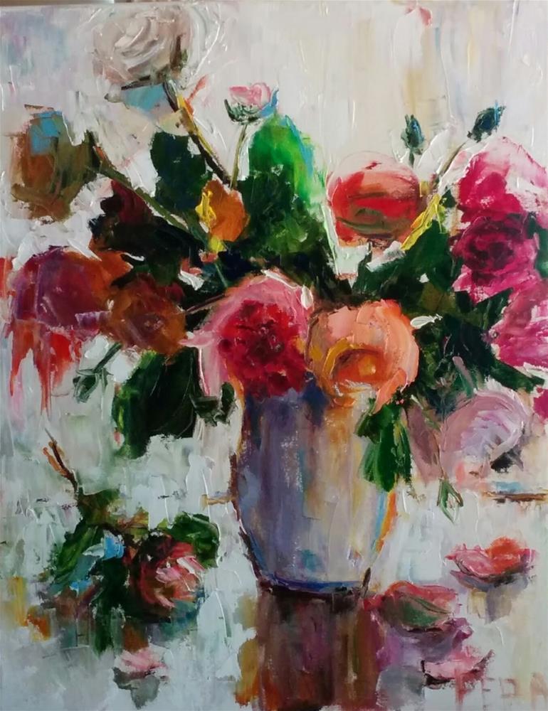 """Roses Forever"" original fine art by pepa sand"