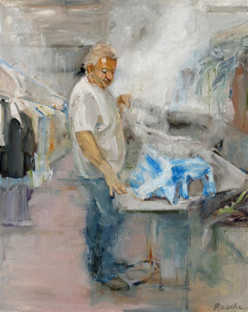 """""""A Well Pressed Shirt"""" original fine art by Jessie Rasche"""
