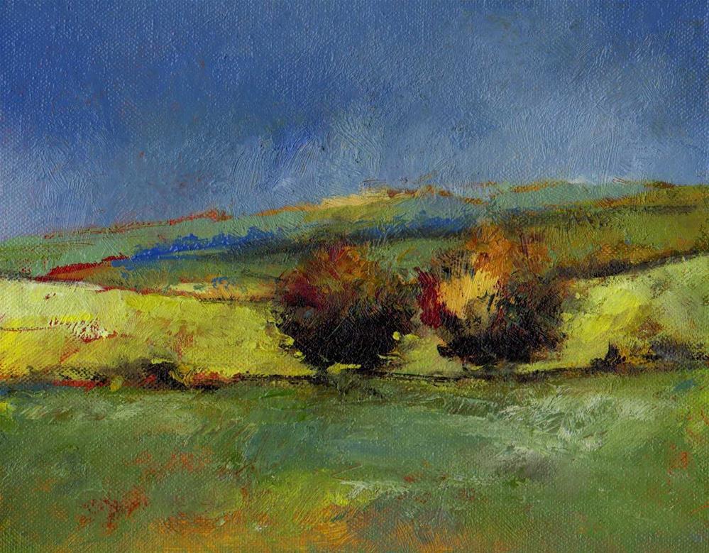 """couple trees"" original fine art by Mark DeBak"
