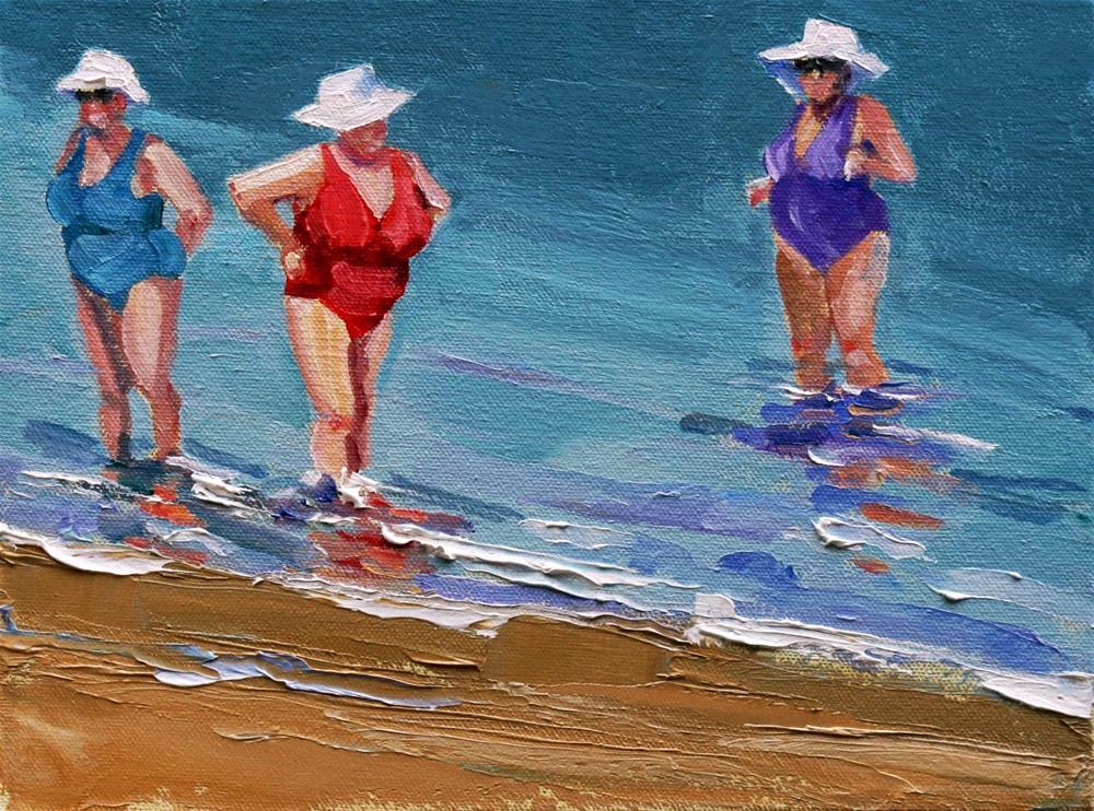 """making waves"" original fine art by Carol Carmichael"