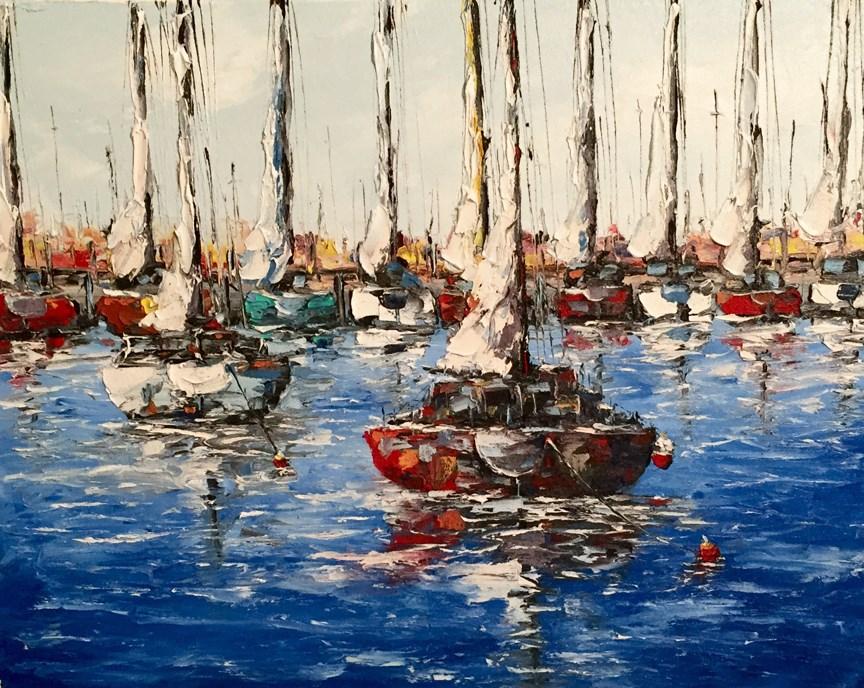 """City Dock"" original fine art by Ken Fraser"