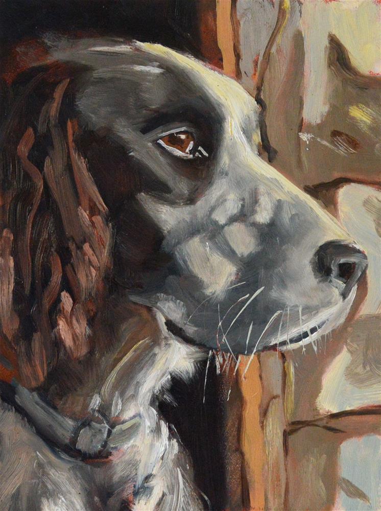 """The Night Watchman"" original fine art by Peter Bain"