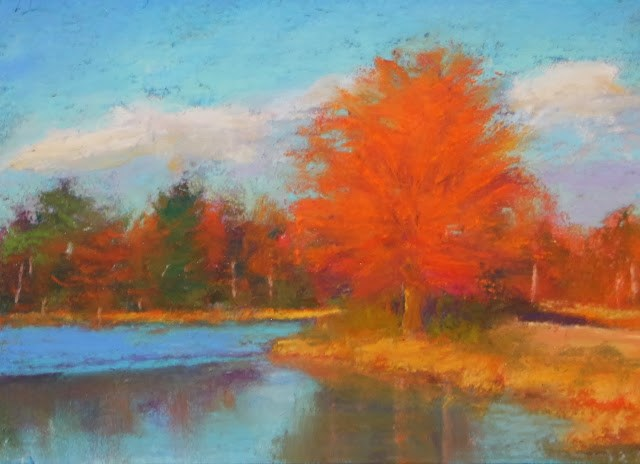 """""""Fall Reflections"""" original fine art by Sharon Lewis"""