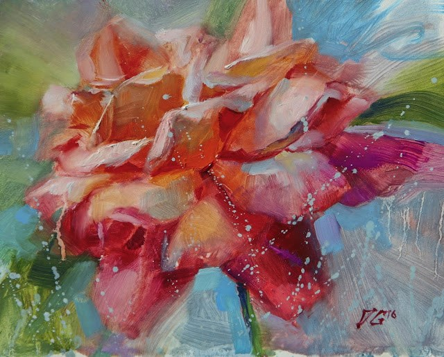 """Vibrant Rose"" original fine art by Dimitriy Gritsenko"