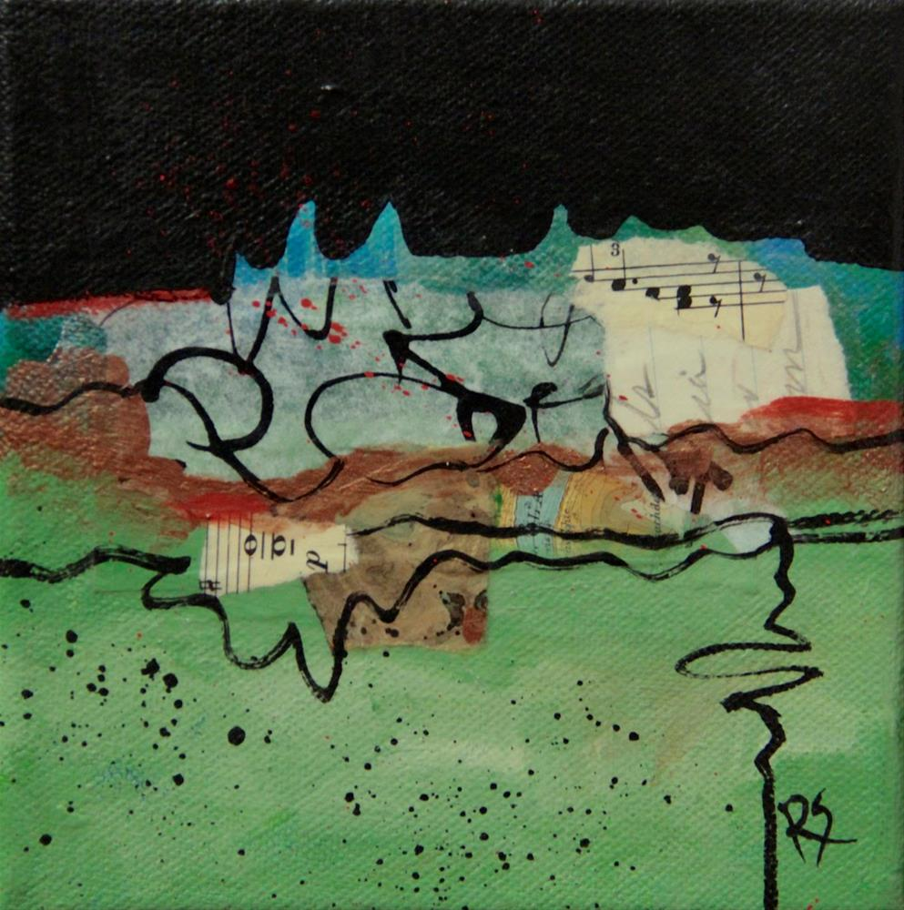"""""""Meander and Flow"""" original fine art by Roberta Schmidt ArtcyLucy"""