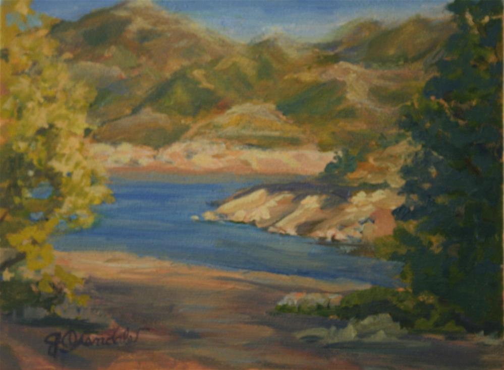 """""""Bartlett Lake"""" original fine art by Jan Oxendale"""