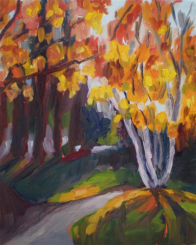"""""""Through the Trees"""" original fine art by Loralee Chapleau"""