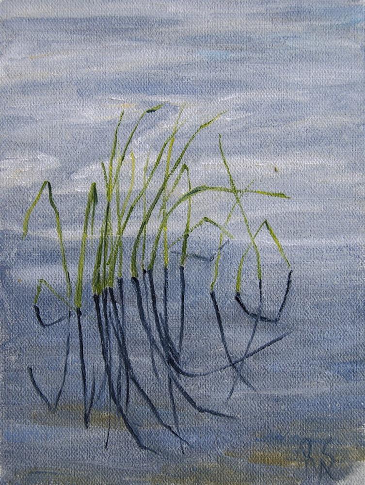 """Patterns: Grass in Water"" original fine art by Rachel Steely"