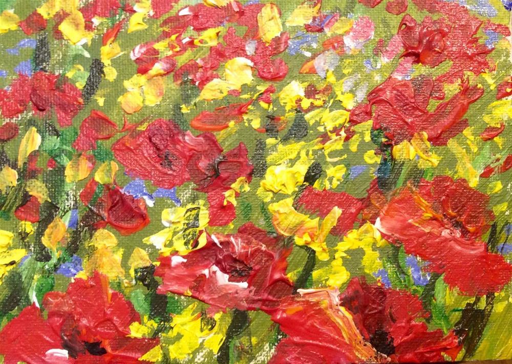 """""""Wild flowers field"""" original fine art by Sonia von Walter"""