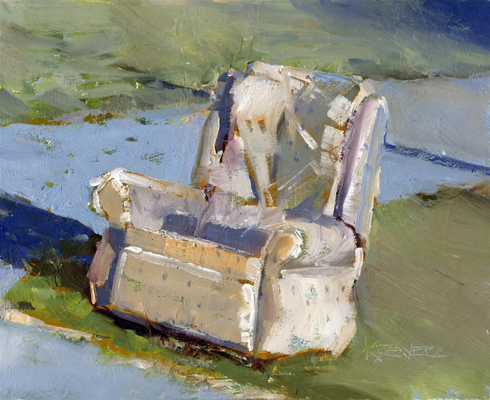 """Roadside Recliner No. 179"" original fine art by Kent Brewer"
