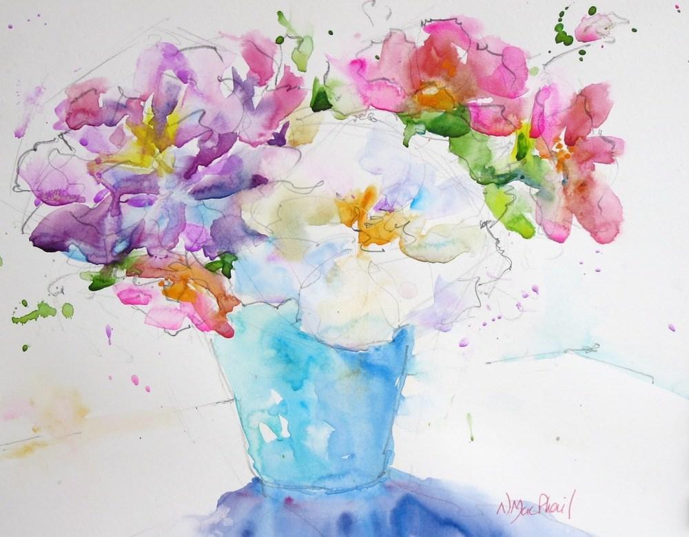 """thanks a bunch"" original fine art by Nora MacPhail"