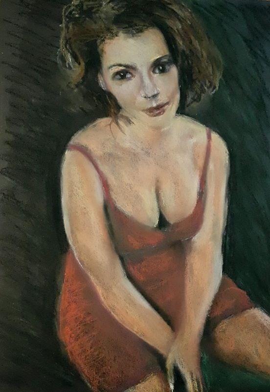 """Redhot Mama"" original fine art by Rentia Coetzee"