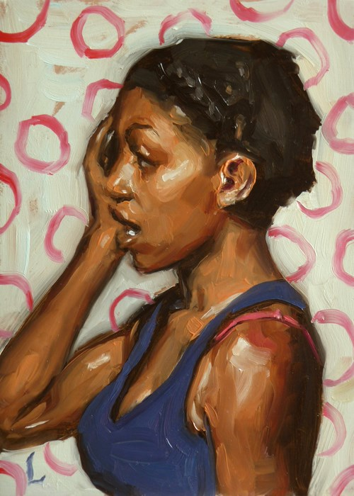 """Oh!"" original fine art by John Larriva"