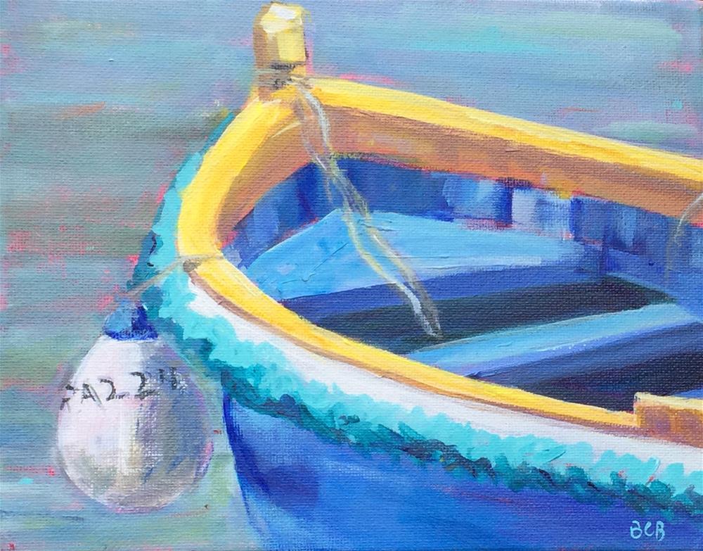"""Malta Fishing Boat 8 x 10"" original fine art by Beth Carrington Brown"