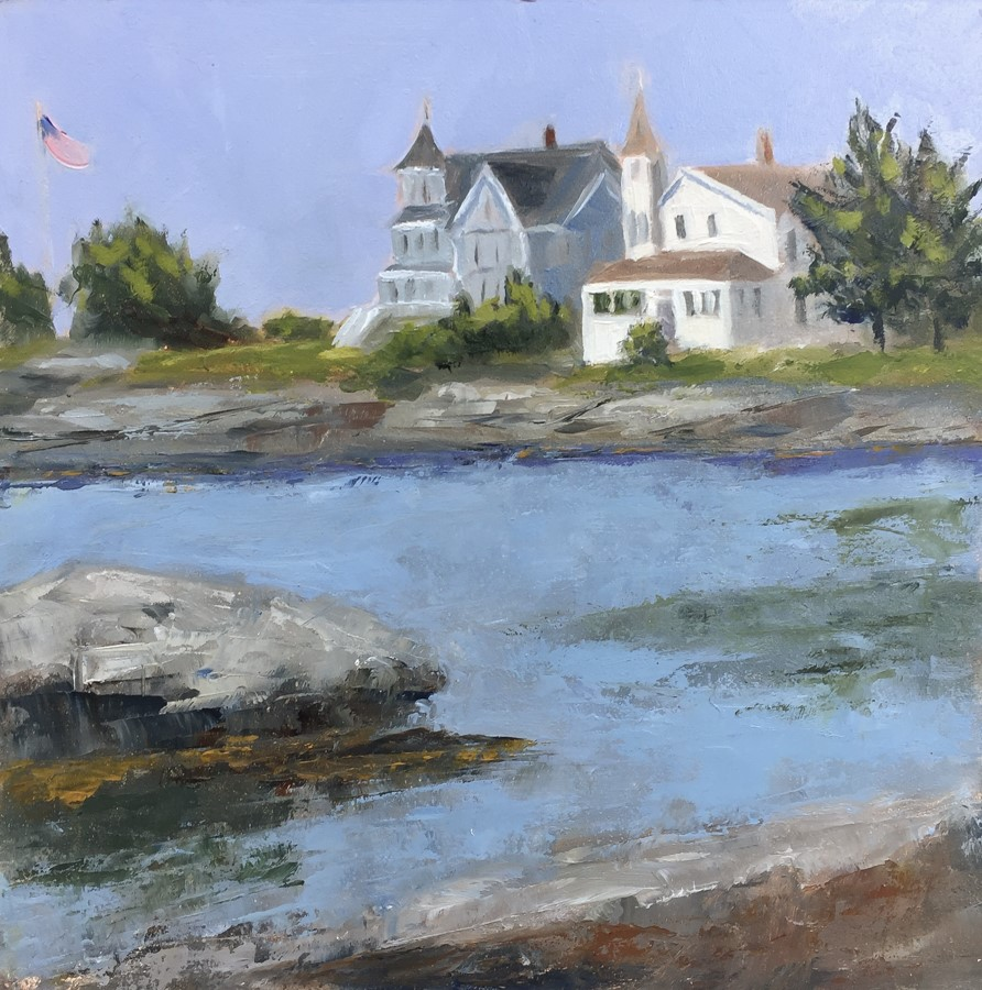 """#155 - Grimes Cove - Ocean Point, ME"" original fine art by Sara Gray"