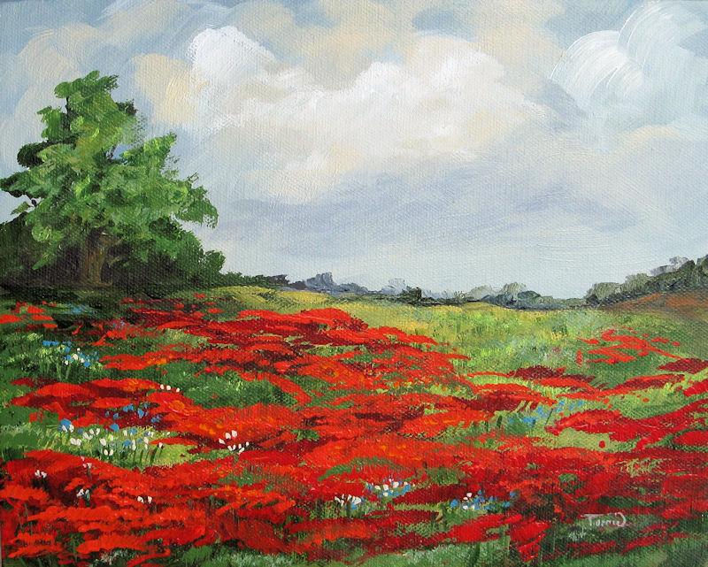 """Summer Poppies IV"" original fine art by Torrie Smiley"