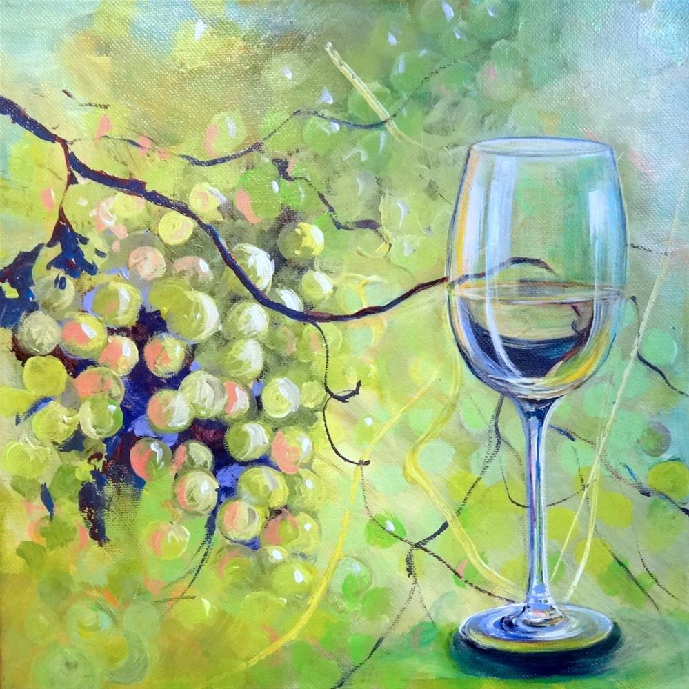 """""""6064 - Grapes with Benefits"""" original fine art by Sea Dean"""