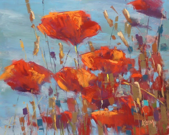 """New Digital Demo! Painting Expressive Flowers: Poppies in the Sun"" original fine art by Karen Margulis"