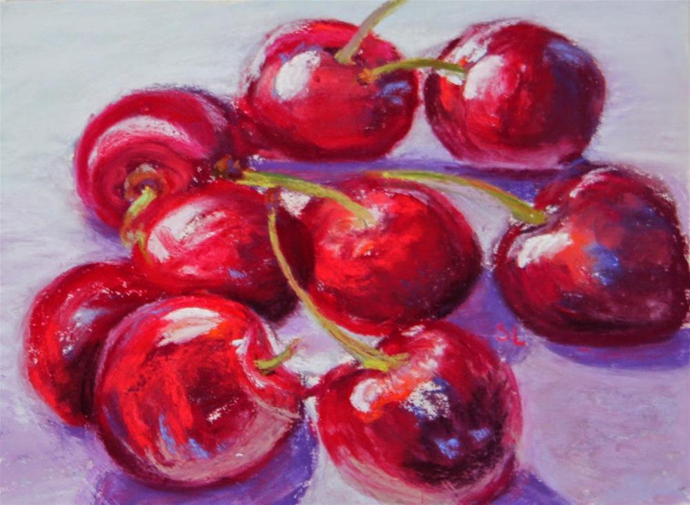 """Merry Cherries"" original fine art by Sharon Lewis"