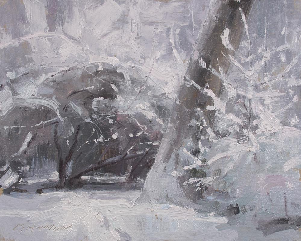 """2-1-1 Rabbit Shelter"" original fine art by Marc Hanson"