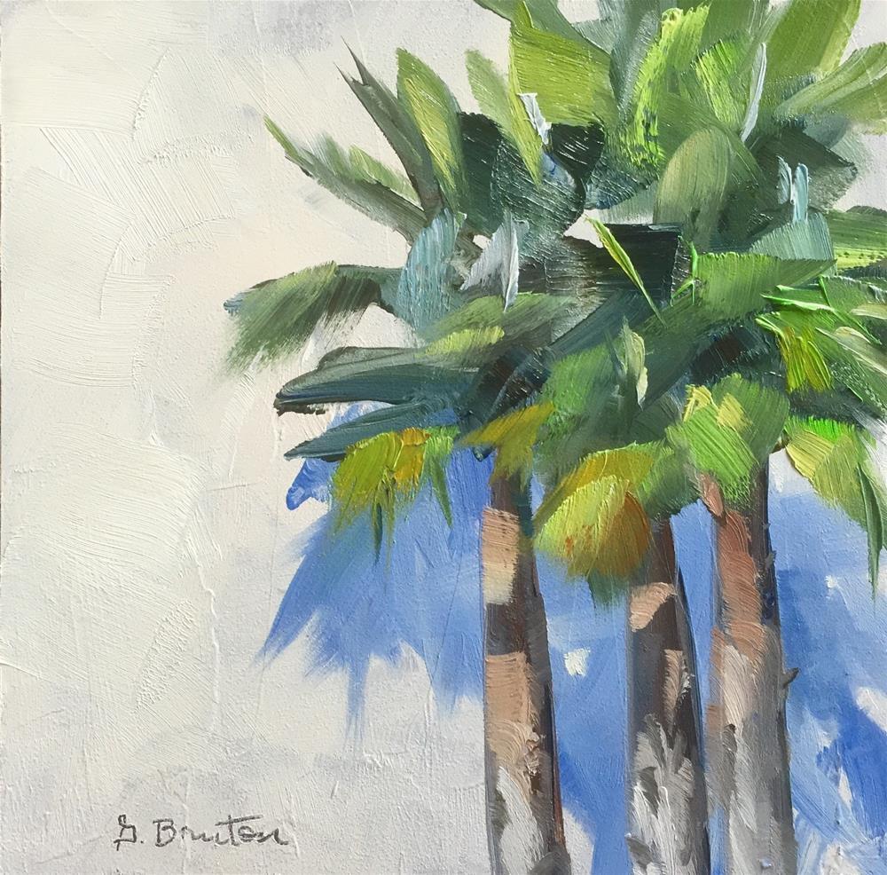 """Palms and Shadows"" original fine art by Gary Bruton"