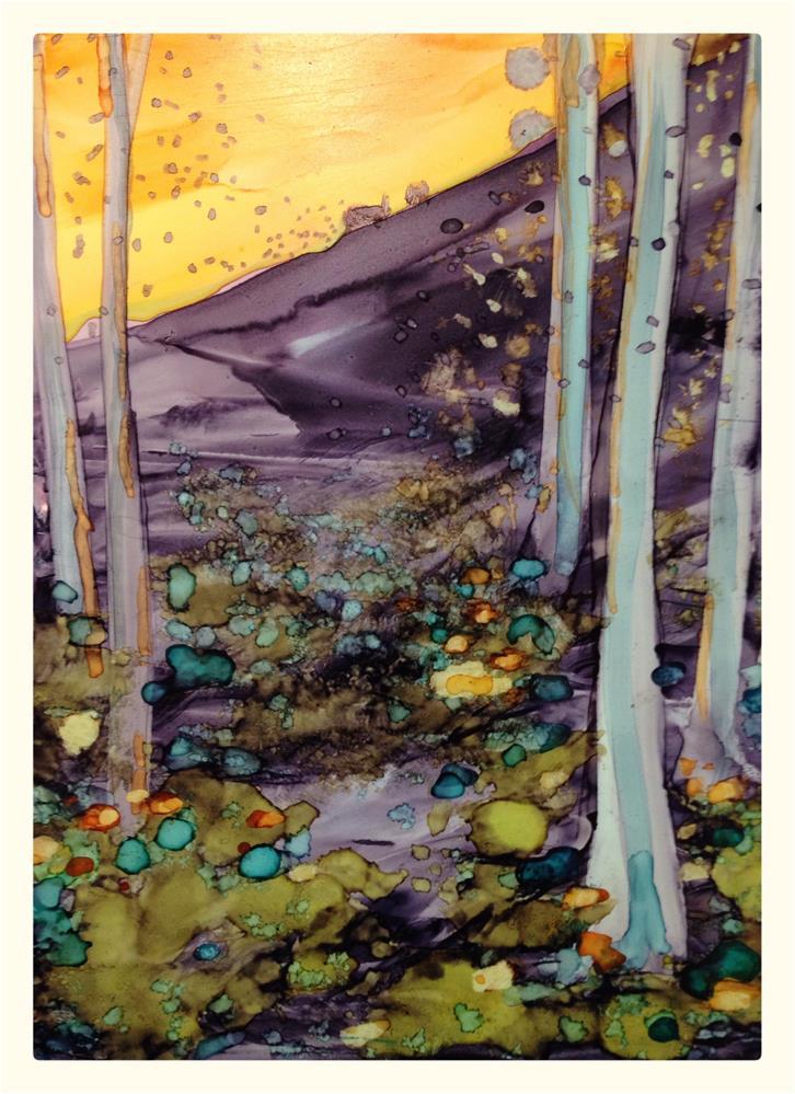 """Morningside Slopes"" original fine art by Kelly Alge"