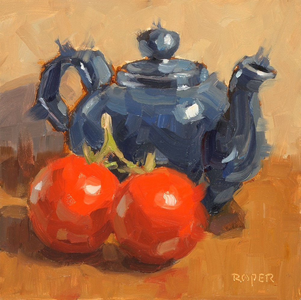 """On The Vine  "" original fine art by Stuart Roper"