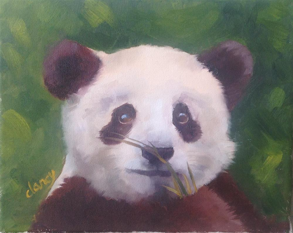 """""""Bamboo delight"""" original fine art by Catherine Clancy"""
