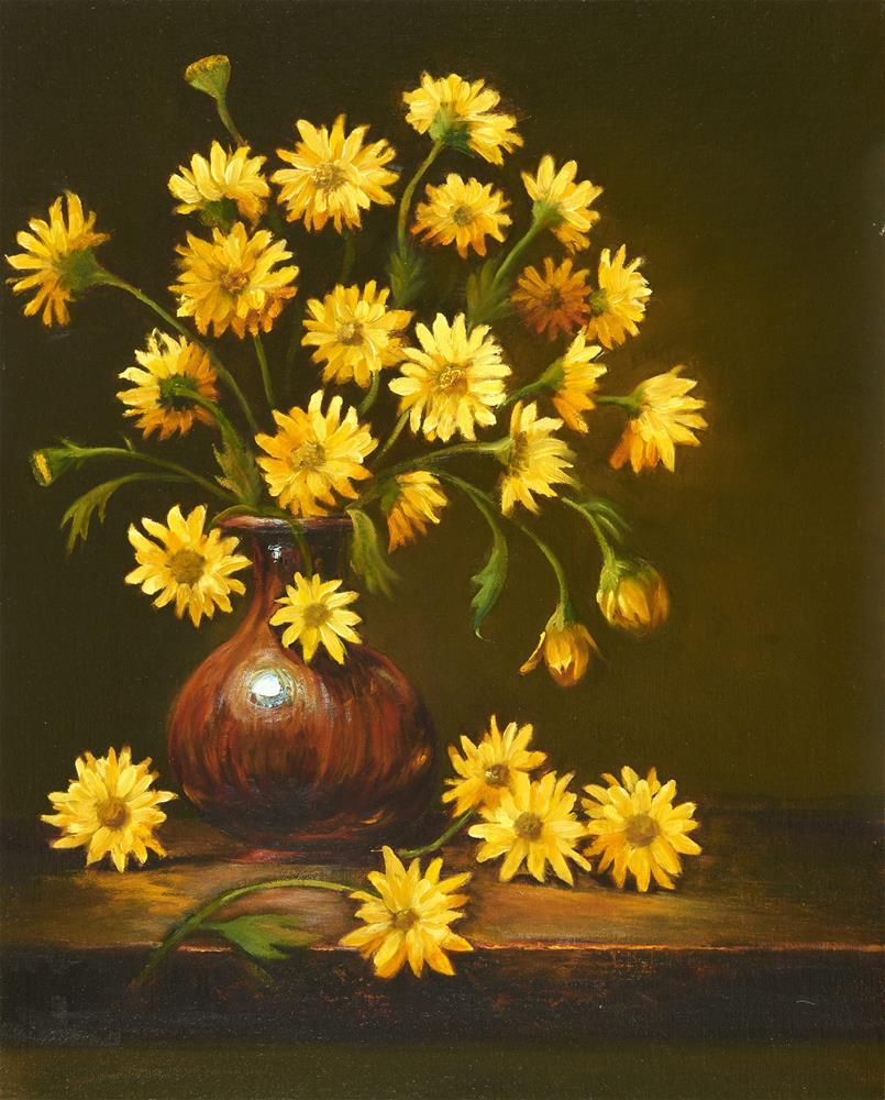 """Kristin's Daisies"" original fine art by Lisa Wald"