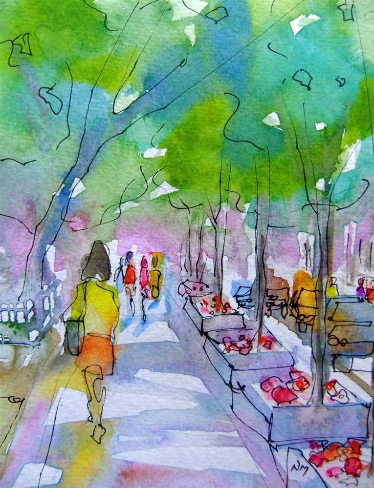 """take the tree lined street"" original fine art by Nora MacPhail"
