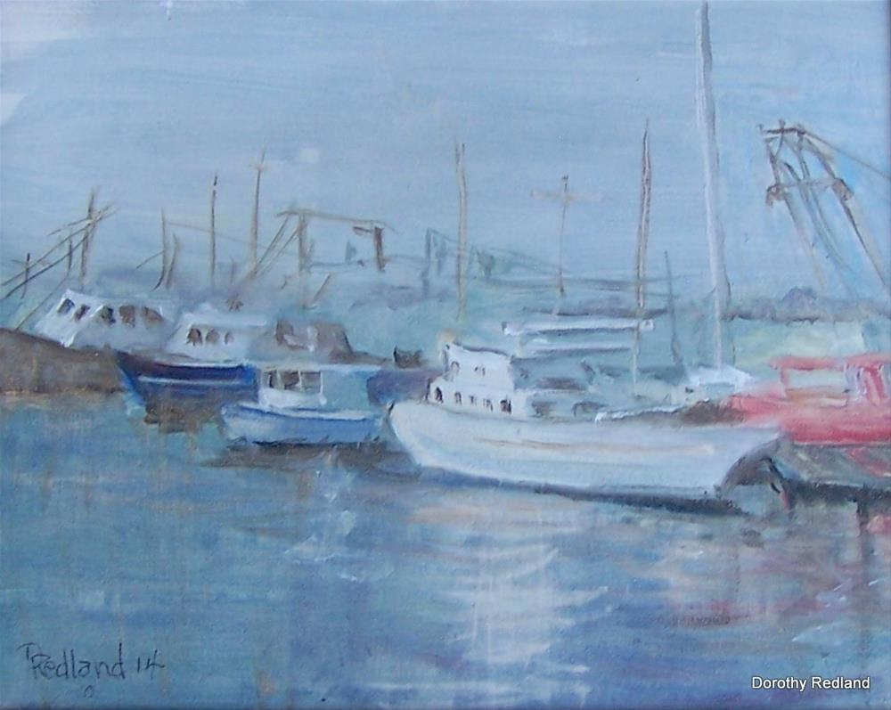 """BOATS AT THE COAST"" original fine art by Dorothy Redland"