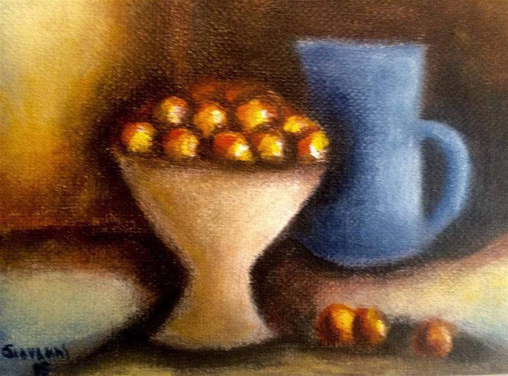 """Peaches"" original fine art by Giovanni Antunez"