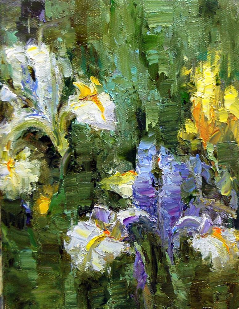 """""""Iris Time"""" original fine art by Julie Ford Oliver"""