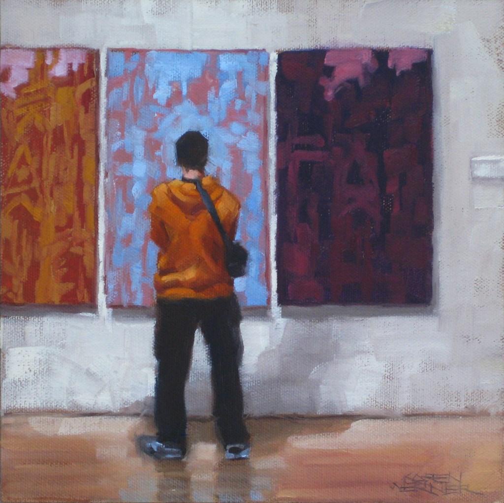 """Modern Thought"" original fine art by Karen Werner"