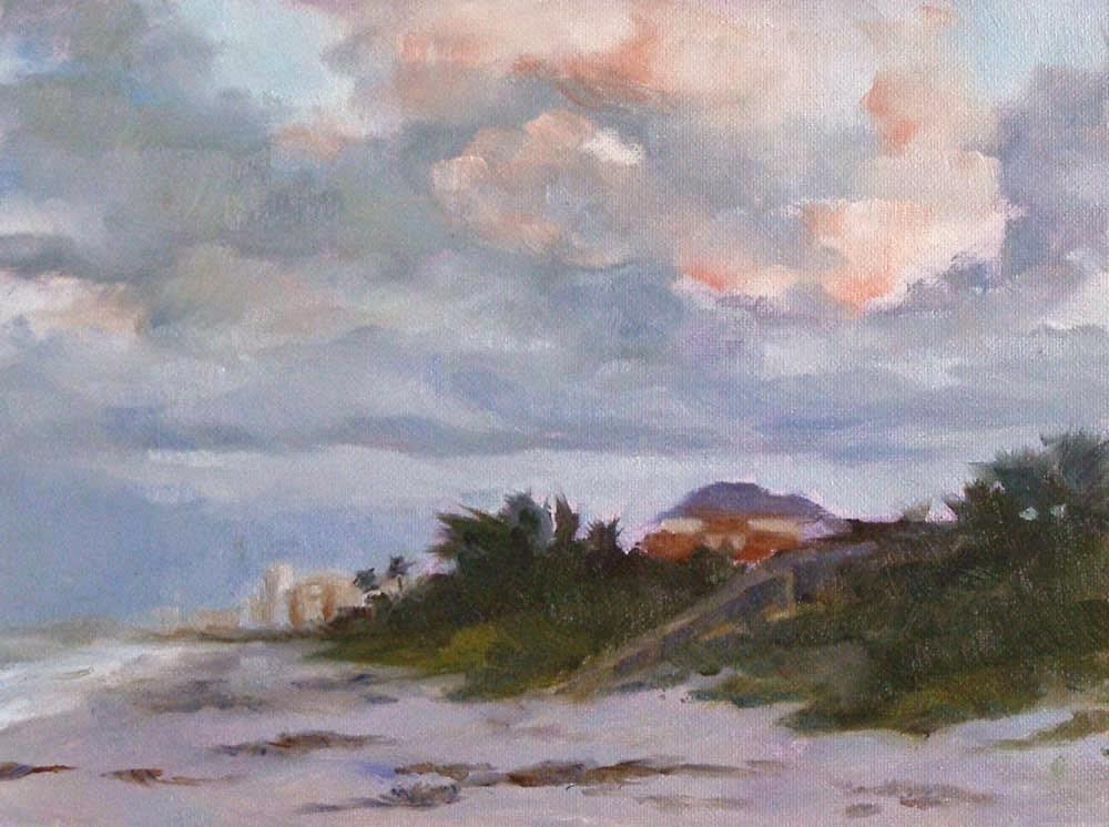 """Satellite Beach, 8x6 Oil on Canvas"" original fine art by Carmen Beecher"