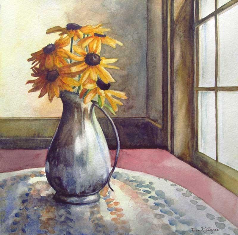 """Susans By The Window"" original fine art by Kara K. Bigda"
