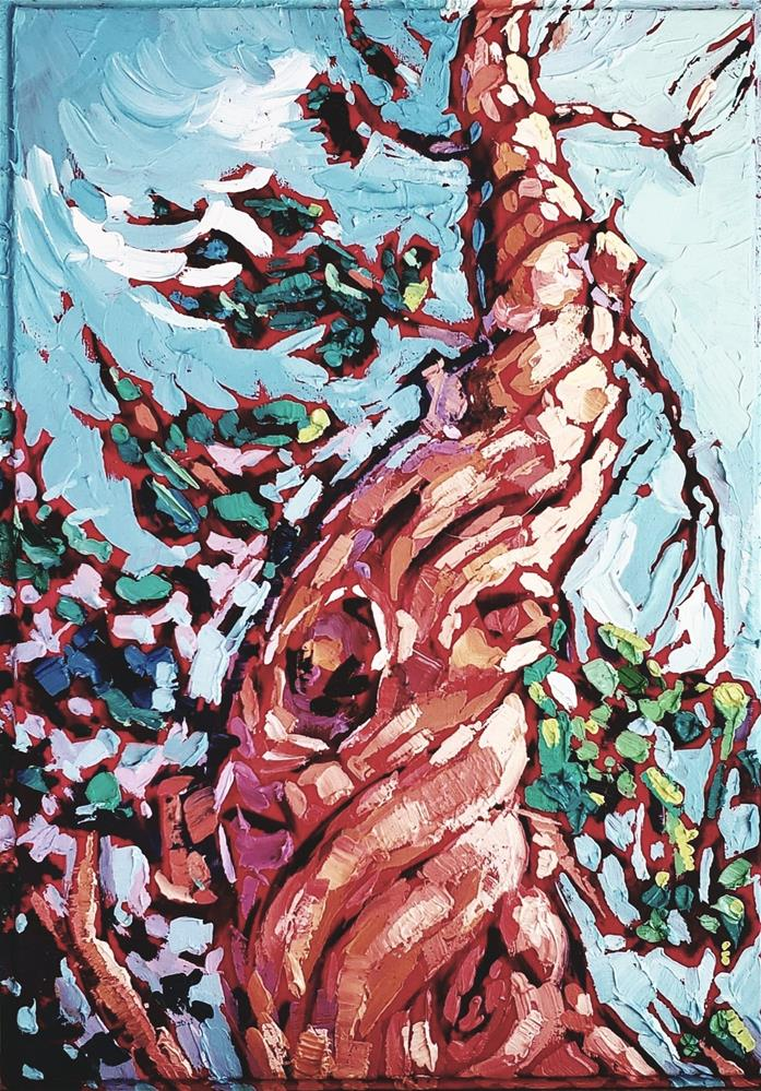 """Dancing to the Sky"" original fine art by Bhavna Misra"