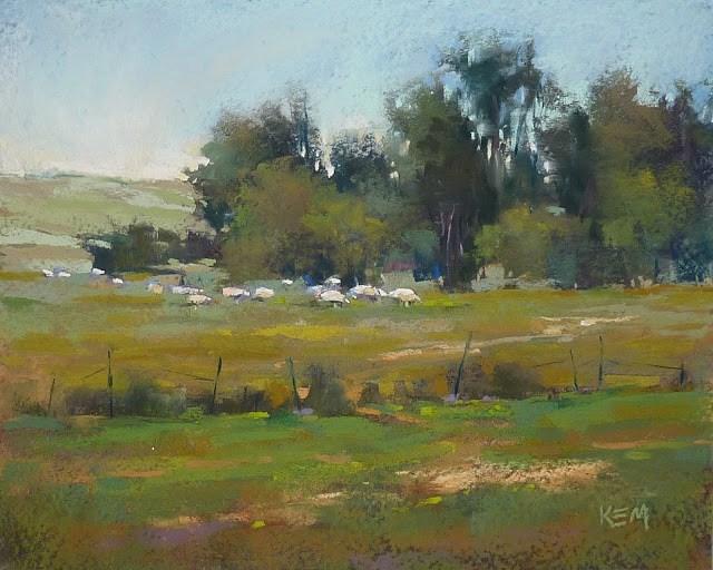 """Pastel FAQ: How Do I Paint the Greens of Summer?"" original fine art by Karen Margulis"